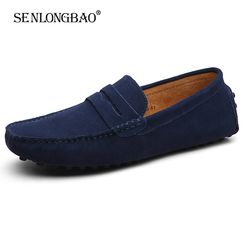 Men High Quality Leather Loafers Men Casual Shoes Moccasins Slip On Men's Flats Fashion Men Shoes Male Driving Shoes Size 38-49