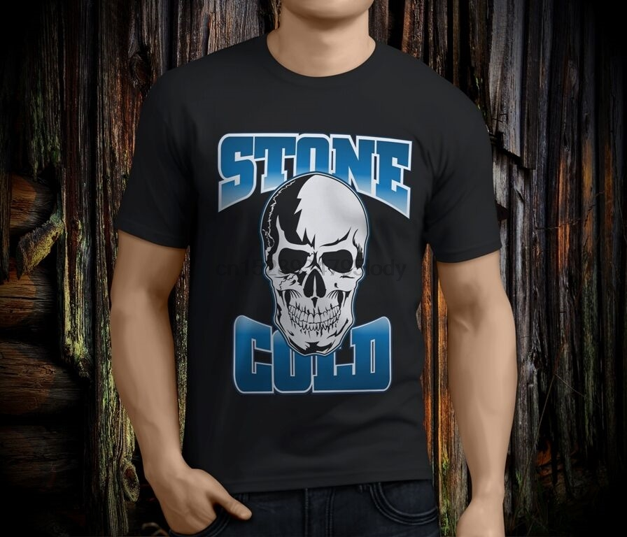 New Stone Cold Steve Austin F Fear Drink Beer Black T-Shirt