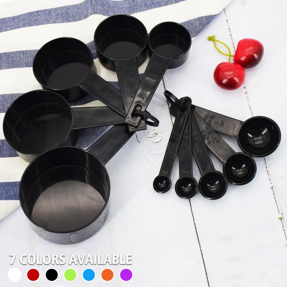 10pcs 7 Color Measuring Cups And Measuring Spoon Scoop Silicone Handle Kitchen Measuring Tool FreeShipping 1