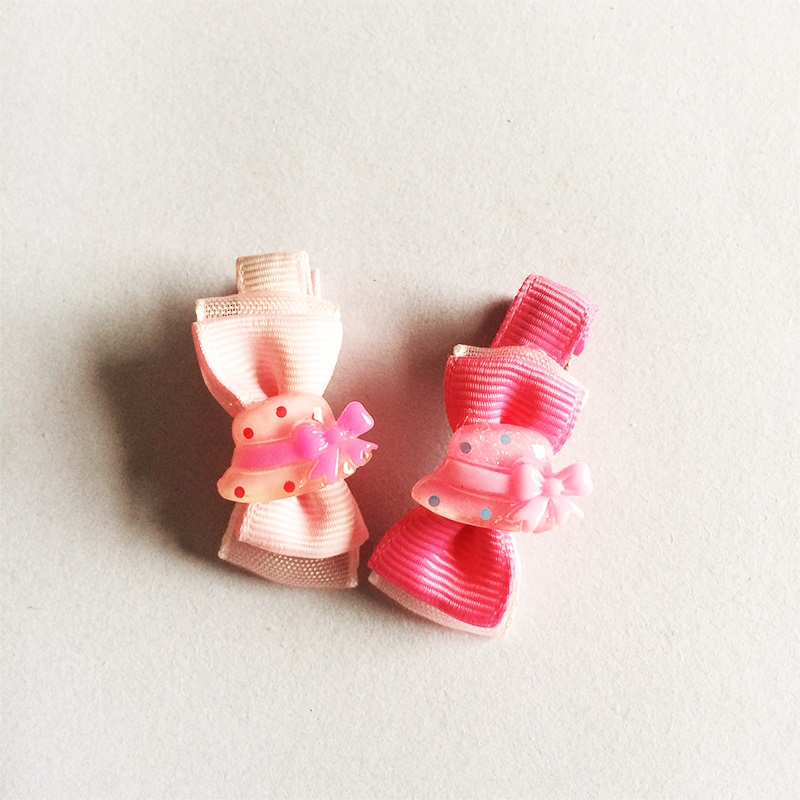 1 Pcs lot Cute Cap Chiffon Bowknot Hair Clips Girls Ribbon Bows Kids Barrette Hairpin Accessories Child Hair Ornaments Hairclip in Hair Accessories from Mother Kids