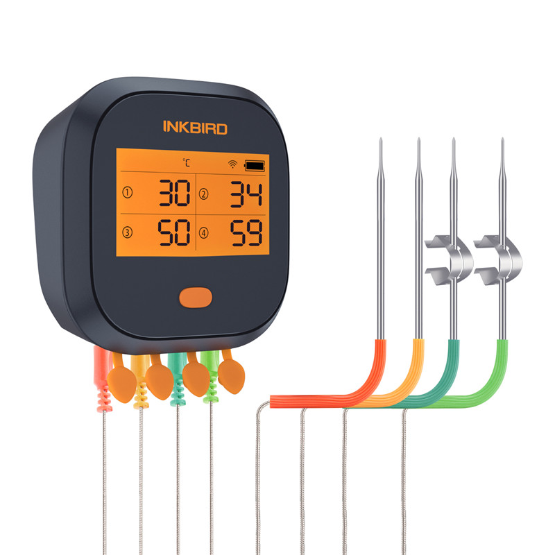 Inkbird мяса цифровой термометр IBBQ 4T Wi Fi барбекю термометр 4 зонда 2000 мАч аккумуляторная батарея для кухни курильщик гриль