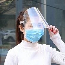 5 sztuk pełna twarz Protect Anti ślina ochronna osłona twarzy wyczyść Visor z unoszoną szybą przezroczysta maska przeciw rozpryskom pełna twarz osłona na twarz