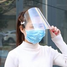 5Pcs Full Face Protect Anti Speeksel Beschermende Gezicht Shield Clear Vizier Flip Up Transparant Masker Anti Splash Volledige Gezicht cover