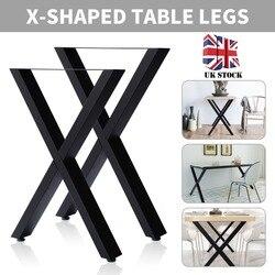New X Shape Desk Leg Industrial Cross Table Legs For Dining Benches Office Desks 72cm x 50cm/40cm x 35cm