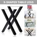 X Shape Desk Leg 72cm x 50cm/40cm x 35cm Industrial Home Cross Shape Table Legs For Dining Benches Office Desks New