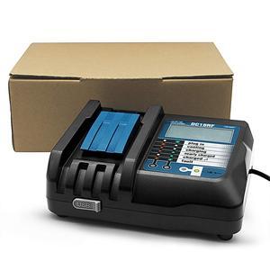 Image 5 - Reemplazo del cargador para el cargador Mikita 14,4/18V DC18RC/DC18RF 3.5A interfaz USB LCD Pantalla de carga rápida EU/US/UK adaptador de enchufe
