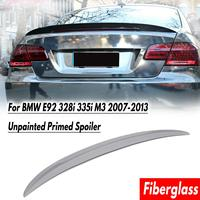 Primer Grey Rear Trunk Lid Spoiler Wing Fit for BMW E92 328i 335i M3 2007 2013 Performance Fiberglass Auto Replacement Parts
