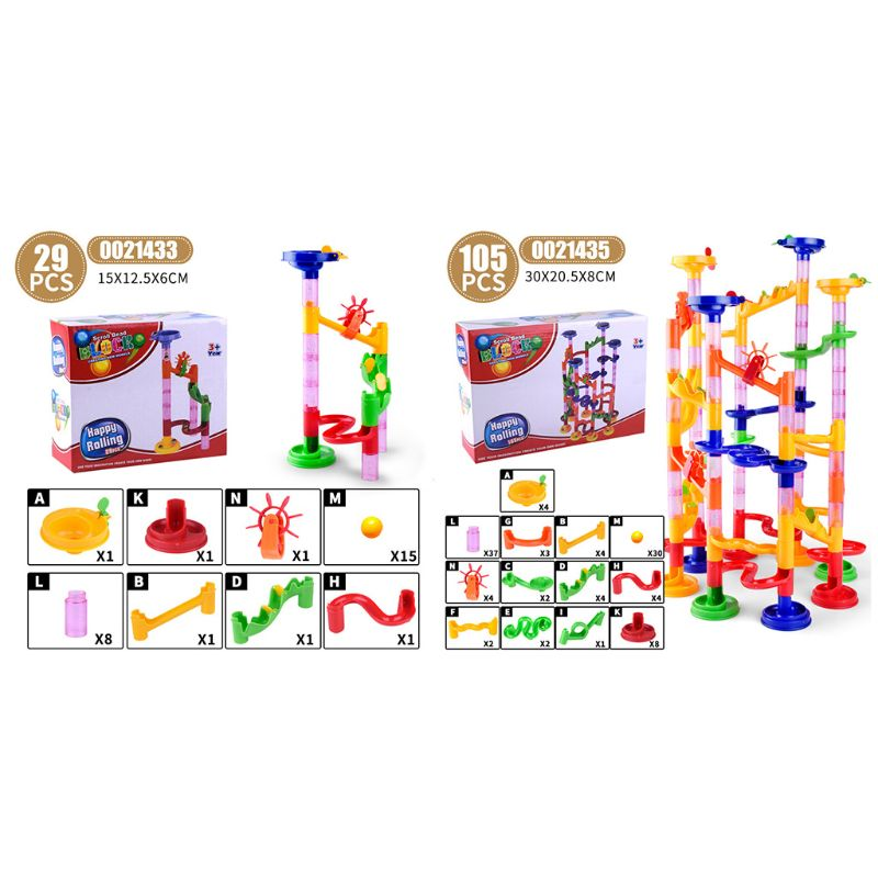 105Pcs Marble Run Race Construction Maze Ball Track Building Blocks Game Kids Toy DXAD