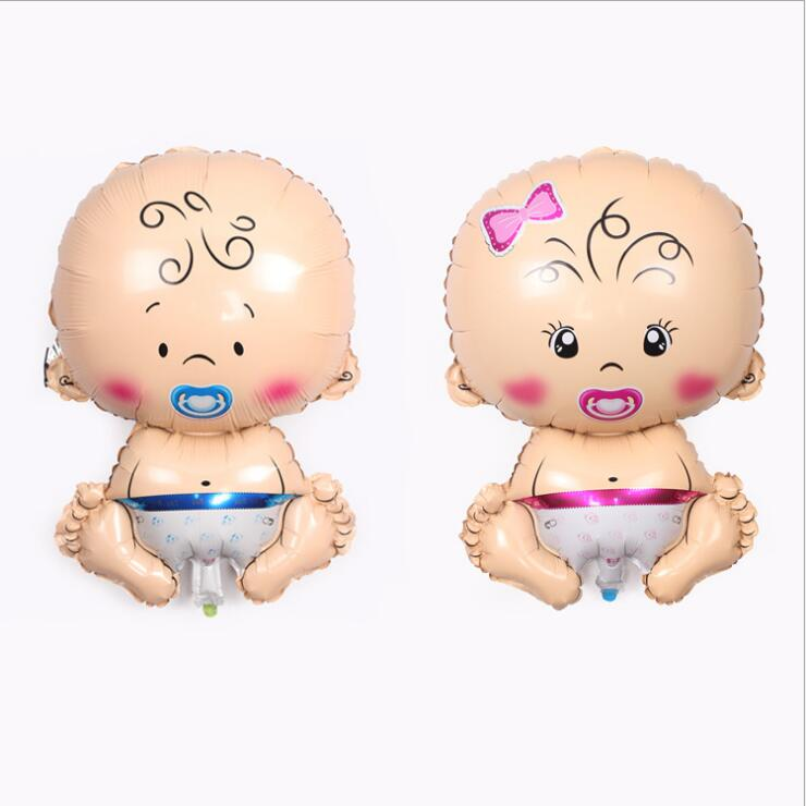A large male and female Baby nipple aluminium film balloon birthday party arrangement