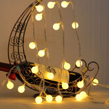 EU Plug 10M 100LED Christmas Ball Garlands String Fairy Lights Waterproof Outdoor For Holiday Wedding Party New Year Decoration