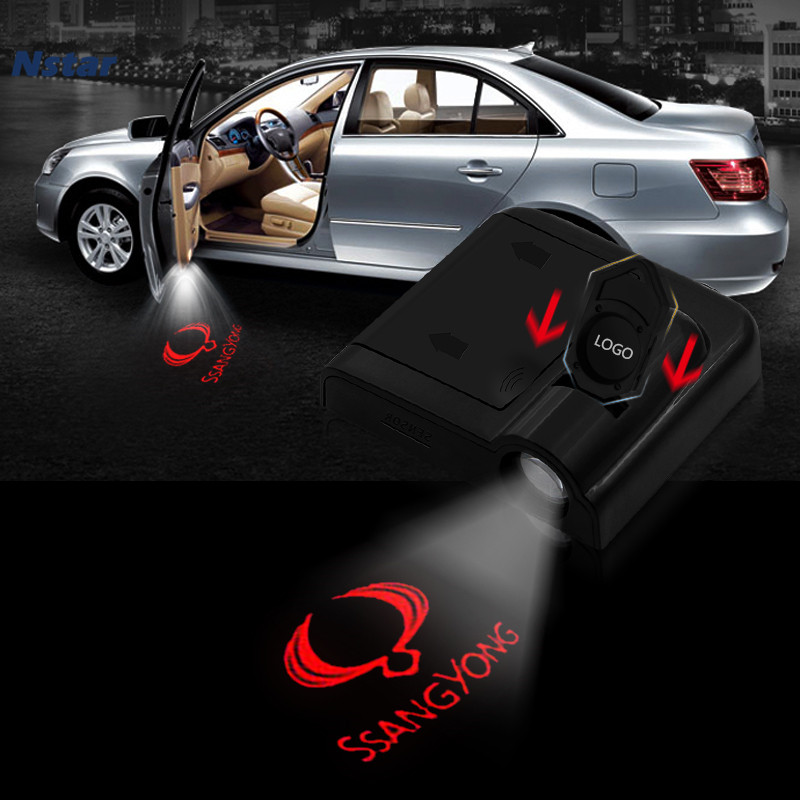 Nstar 1pc Led Ghost Shadow Light Car Door Welcome Lamp Laser Logo Decoration For SsangYong Chairman Korando Kyron Rexton Musso image
