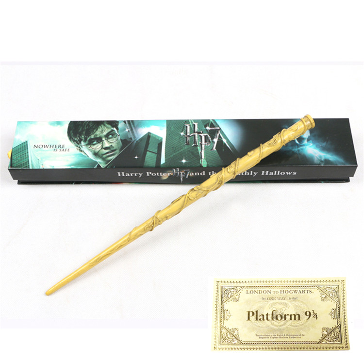 Hermione Elder Dumbledore Voldemort Sirius Har Potter Magic Wands With Box Hogwart London Express Replica Train Ticket Gift