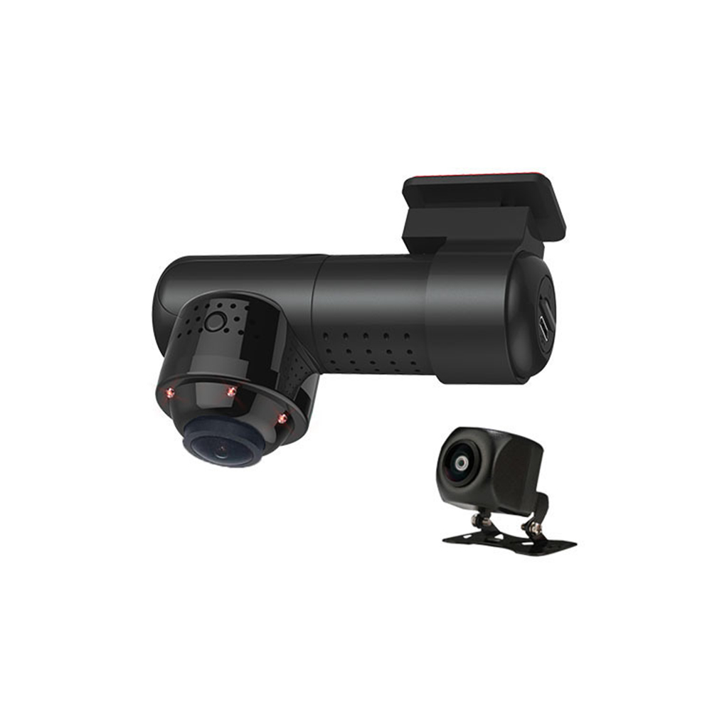 Night Vision Real Time Infrared HD Loop Recording Car Parking Monitor Smart Wide Angle DVR Dash Cam 360 Degree WIFI Panorama