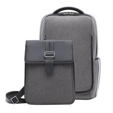 mi Fashion Mens Business 15.6inch Laptop Backpack Waterproof Nylon Teenager Large Capacity Male Shoulder Travel Bag