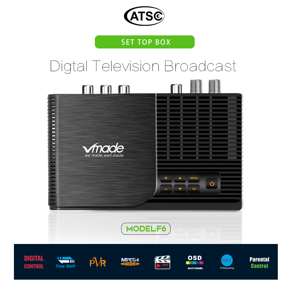 ATSC T terrestrial digital HD TV receiver work at USA Canada Mexico Korea tuner ATSC-T atsc t standard 15