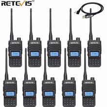 Retevis RT85 Analog Walkie Talkie UV Dual Band 5W Handheld Two Way Radio with Screen Keyboard 10PCS VOX FM Radio Portable +Cable