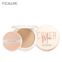 Trucco in polvere 3 colori polvere sciolta trucco viso controllo olio impermeabile polvere pressata finitura pelle polvere cosmetici Maquillaje