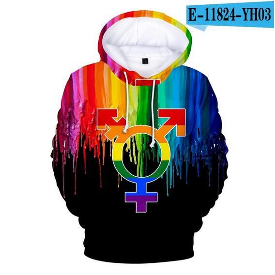 Colorful Rainbow LGBT Hoodies Sweatshirt Men Women For Lesbian Gay Pride LGBT Hoodie Fashion Casual Pullover Hooded Sweatshirts 20