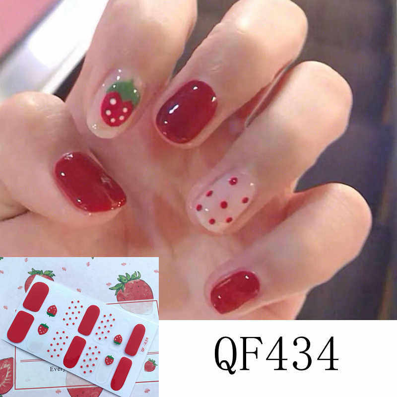 14tips Aardbei Stickers Mode Trend Nail Art Wraps Nagellak Ins Stijlen Zomer Stickers Adhesive Manicure Decoraties