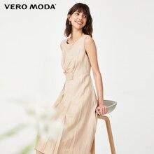 Vero Moda Vrouwen Vintage Geplooide Zoom Mouwloze Jurk | 32027A529