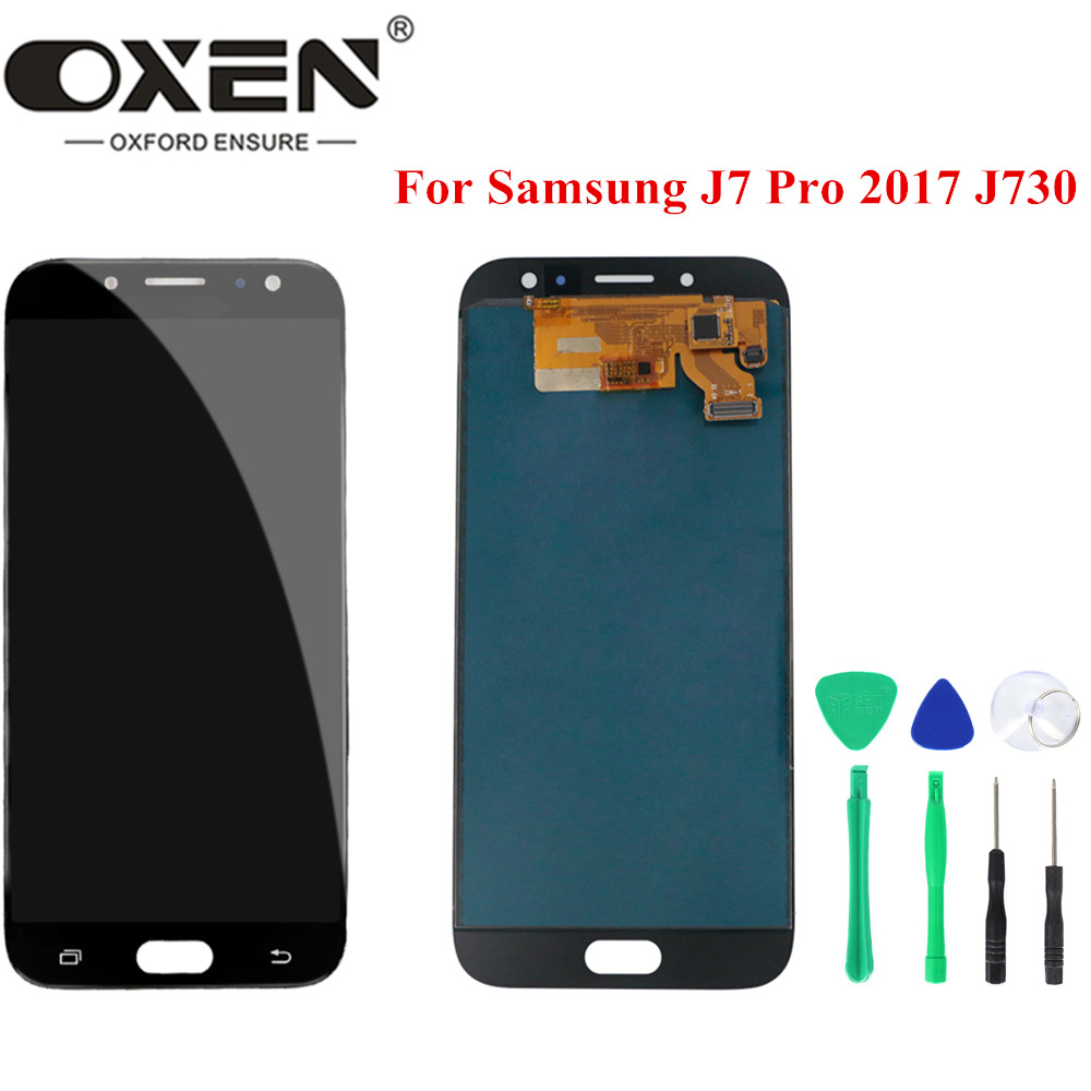 OXEN 100% Tested <font><b>LCD</b></font> for Samsung Galaxy <font><b>J7</b></font> <font><b>Pro</b></font> 2017 J730 J730F <font><b>LCD</b></font> Display Touch <font><b>Screen</b></font> Digitizer Assembly <font><b>Replacement</b></font> Panel image