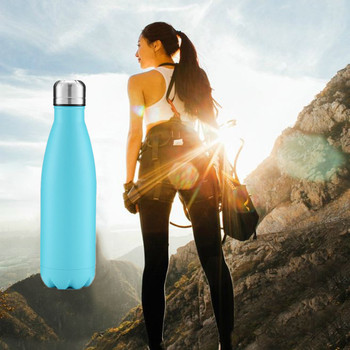 350/500/750/1000ml Double wall Stainles Steel Water bottle Thermos bottle keep Hot and Cold Insulated Vacuum Flask for Sport 6