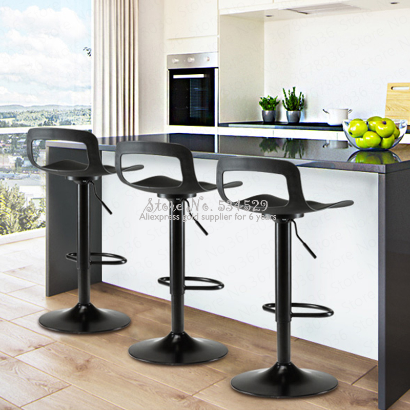 21%New European Columbine Bar Stool Modern Minimalist High Stool Bar Chair Home Back Bar Stool Creative Stool Lift Bar Chair