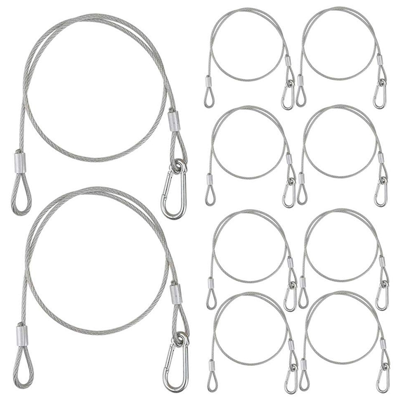 10PCS Stage Lighting Cable 31.5 Inch Steel Cable For Stage Lighting Par Light Moving Head Light
