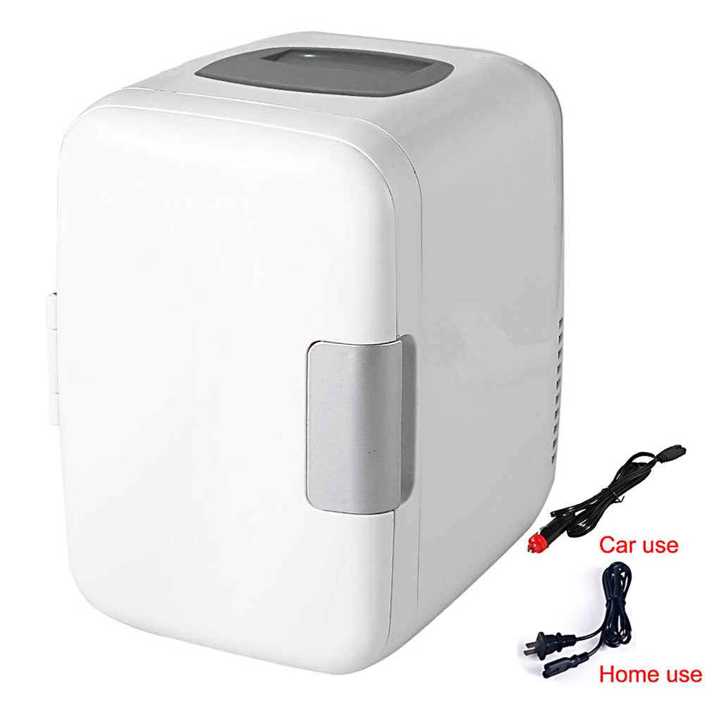 Portable 4L 220V/12V Eletric Home Mini Refrigerator Fridge Mini Dual-use Cool Warmer Dormitory Cans Beer Cooler