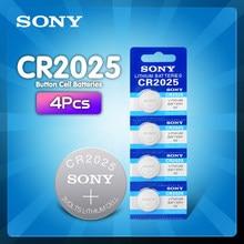 4 pces sony cr2025 bateria de lítio cr 2025 ecr2025 dl2025 br2025 2025 kcr2025 l12 3v bateria da moeda da pilha do botão para brinquedos relógios