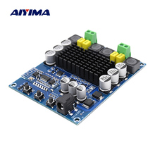 AIYIMA Bluetooth 5.0 TPA3116D2 Digital Amplifier Board Class D Mini Power Home Amplifier 50x2 With Preamplifier NE5532 Op Amp