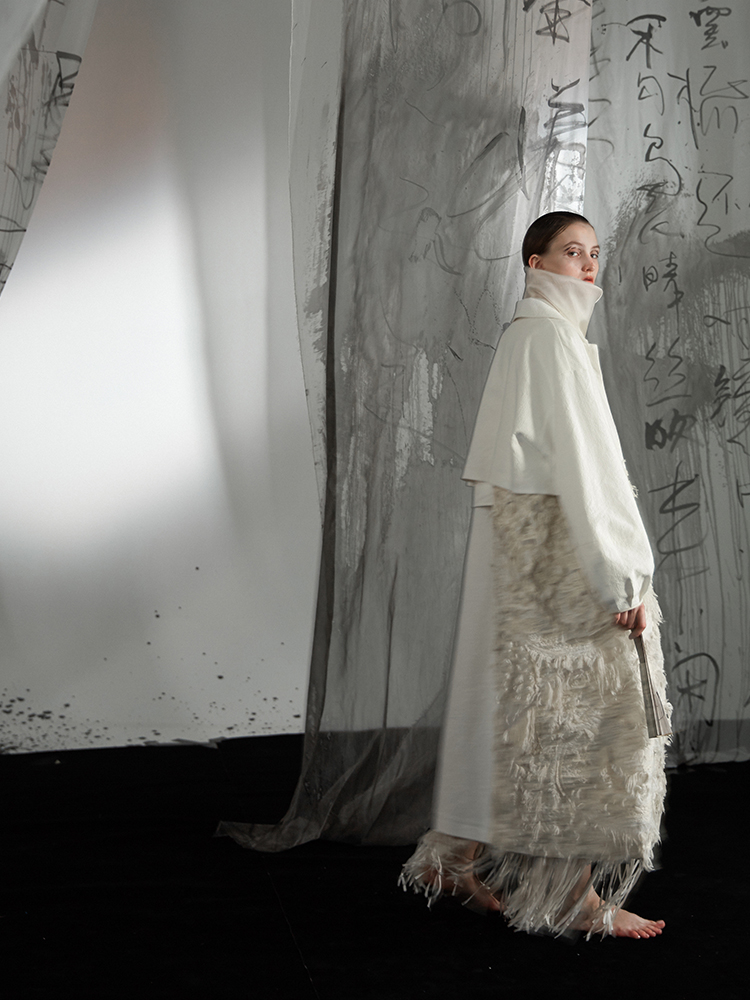 IRINACH06 Fall Winter 2019 New Collection long jacquard   trench   coat women