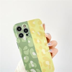 Image 4 - Voor Iphone 12 11 Pro Max Gevallen Leuke Stiksels Luipaard Telefoon Case Voor Iphone X Xr Xs Max 7 8 plus Back Cover