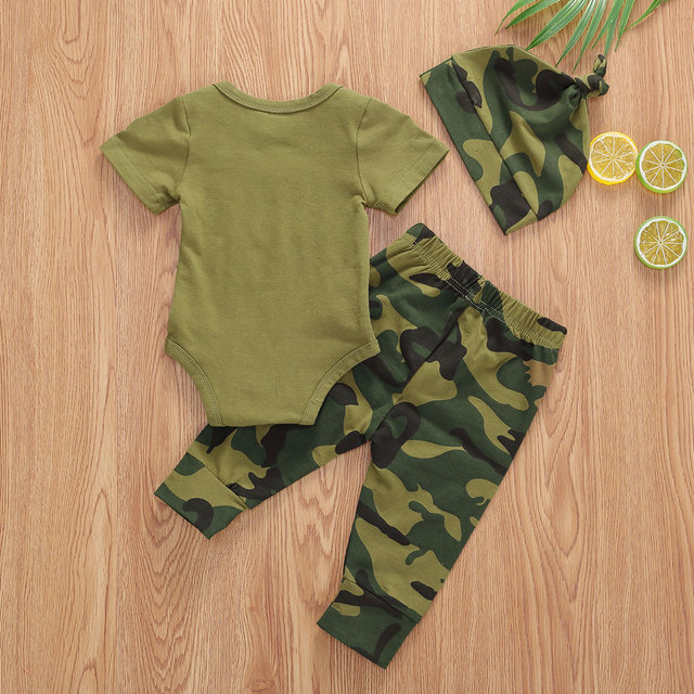 Pudcoco US Stock Infant Baby Boys Clothes Sets Brother Short Sleeve Romper Top+Pants Hats 3Pcs Boy Girl Summer Clothes Outfit 5