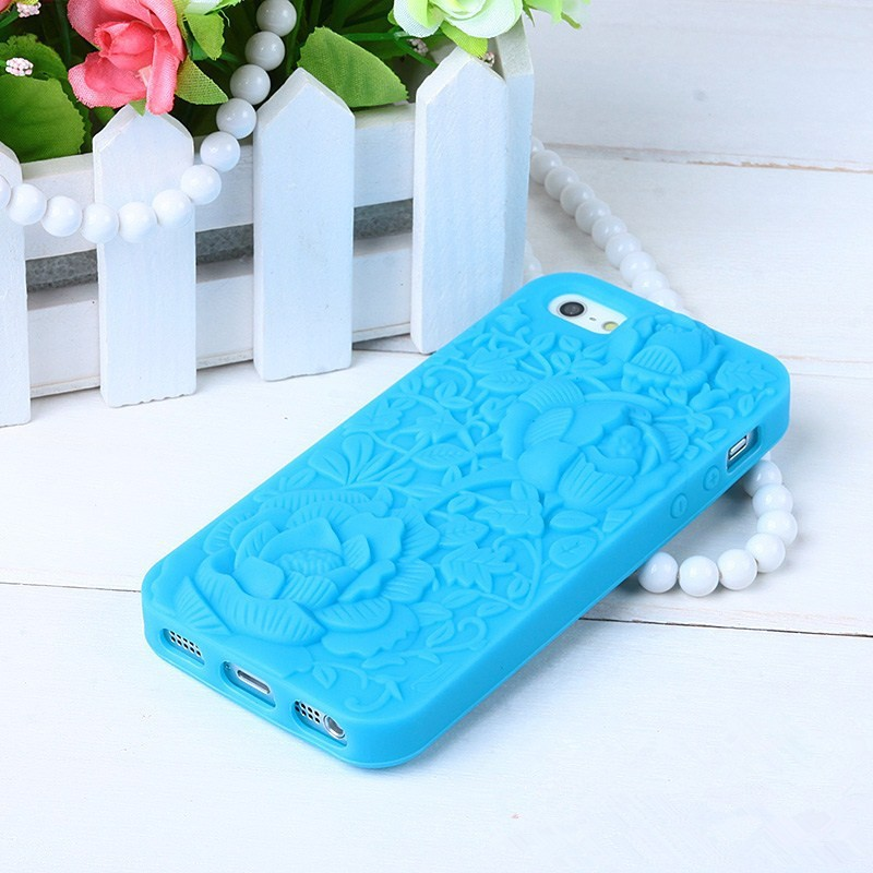 Luxury 3D Rose Flower Soft Silicone <font><b>Phone</b></font> <font><b>Case</b></font> Cover for <font><b>iPhone</b></font> 4 4S 5 5S <font><b>5SE</b></font> 6 6S <font><b>Phone</b></font> back <font><b>case</b></font> capa Funda image