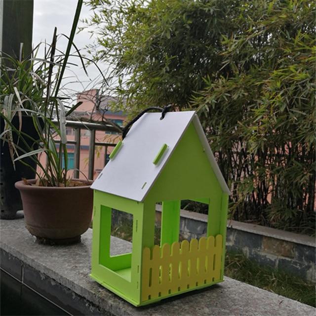Wooden Bird House Garden Deco  5