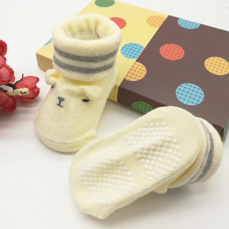Newborn Socks Boys Girls Socks Cute Baby Non-slip First Walkers Socks