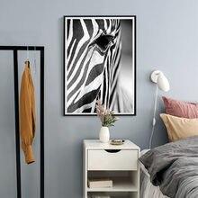 Постер с зеброй в африканском стиле черно белый постер животными
