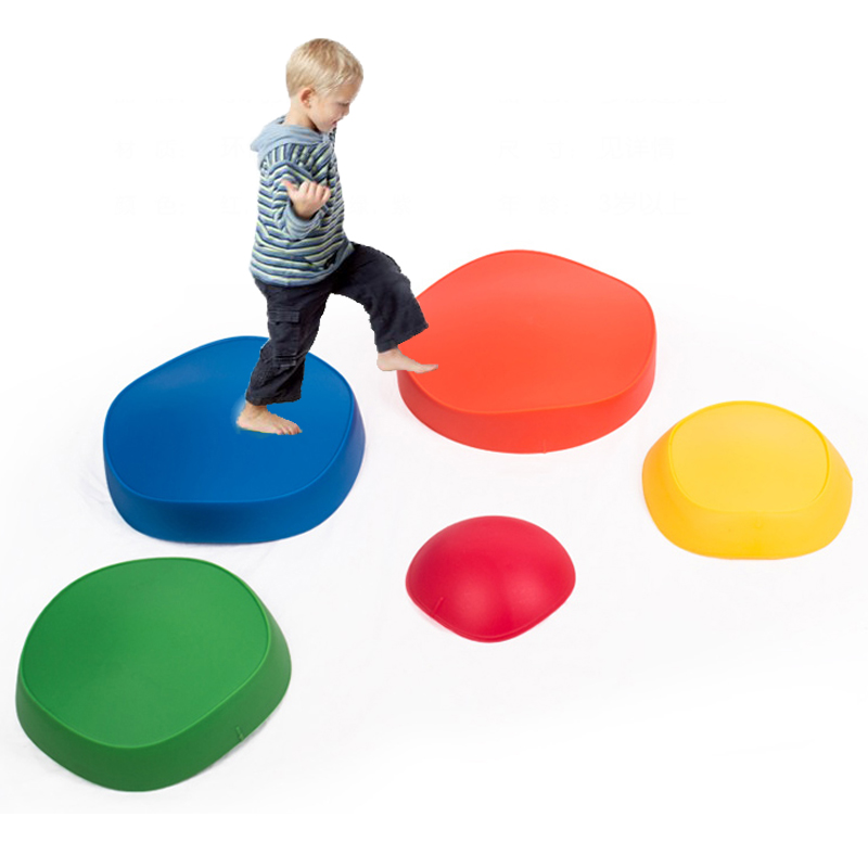 Balance Stepping Stones Climbing Kids Sports Indoor Games Outdoor Outside Toys For Children Cross The River Giochi Bambi 5Pcs