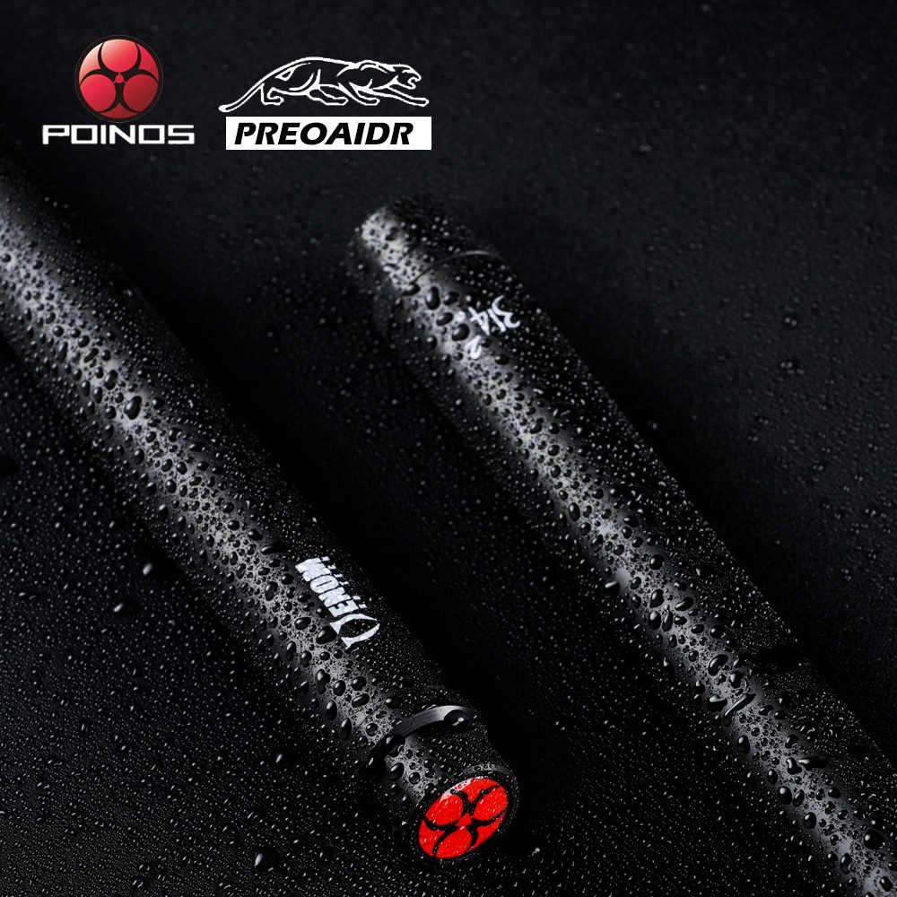 PREOAIDR POINOS pojedynczy trzpień z włókna węglowego kij bilardowy 10.8/11.8/13mm końcówka uni-loc Bullet Shaft z ochraniaczem przegubu