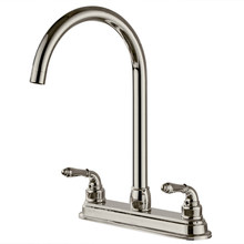 Newest Kitchenware 2-handle Kitchen Fixed Faucet Modern Design Swivel Spout Faucets Home Improvement Bar Sink Water Mixer Taps(China)