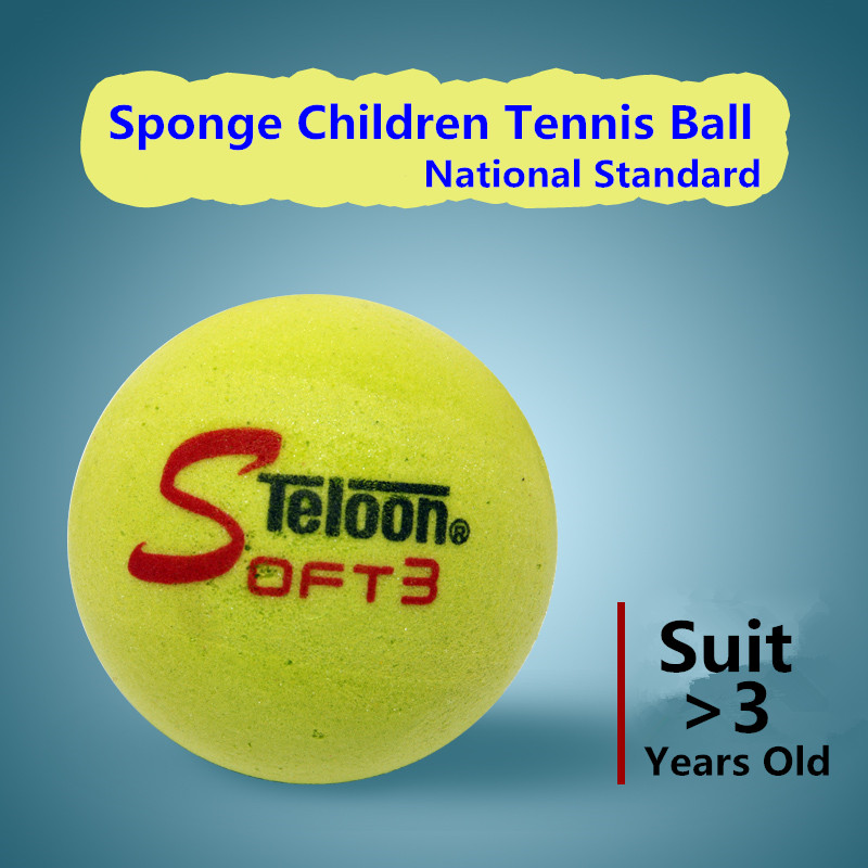 Teloon Tennis Sponge Balls For Childred Suit >3 Years Old Kids National Standard Soft Comfortable Feeling Tenis Balls K029SPA