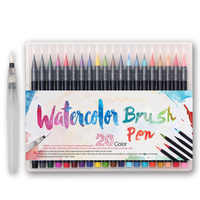 20 Colors Premium Painting Soft Brush Pen Set Watercolor Markers Pen Effect Best For Coloring Books Manga Comic Calligraphy