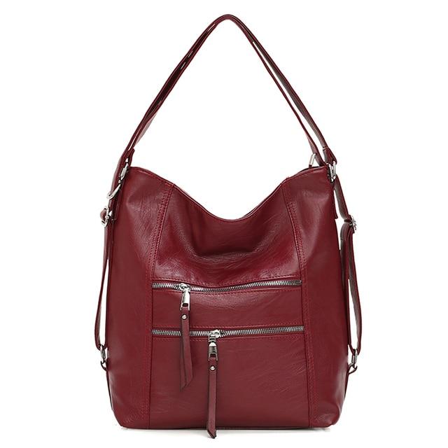 المرأة حقائب جلدية 3IN1 حقيبة يد عالية الجودة موضة حقيبة كتف خمر عادية حمل حقائب الإناث مصمم السيدات حقيبة ساع