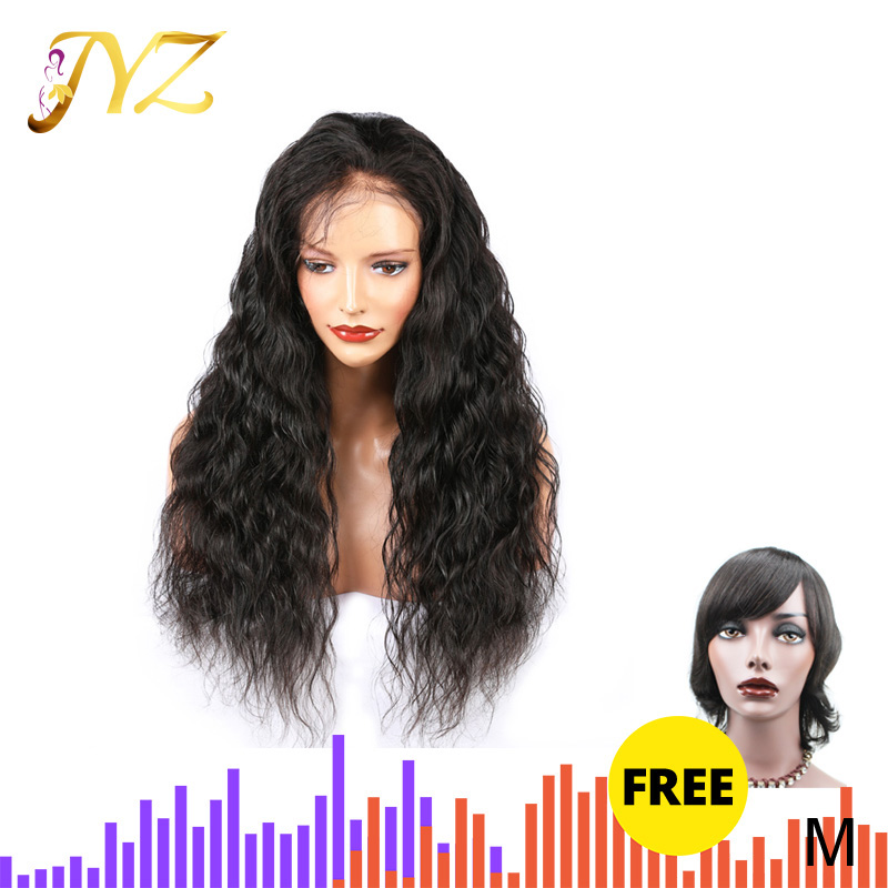 Buy 1 Send 1 JYZ 13x4 Lace Front Human Hair Wigs Loose Deep Wave Lace Wigs Middle Ratio Brazilian Remy Hair Wig For Black Women