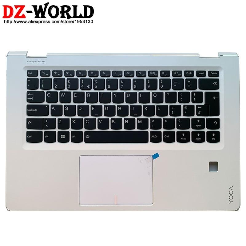 Palmrest Upper Case With UK English Backlit Keyboard Touchpad For Lenovo Ideapad Yoga 510-14IKB ISK AST Flex 4-1470 5CB0M32760