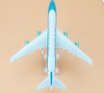 B747-200 de avión de la Fuerza Aérea de los Estados Unidos, modelo de avión aerolíneas de 16cm, juguete para hombre, regalo de cumpleaños, envío sin Metal