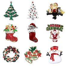 WEIMANJINGDIAN العلامة التجارية أنماط متنوعة سانتا كلوز/الأحذية/شجرة عيد الميلاد/ثلج دبابيس مجوهرات لهدايا عيد الميلاد