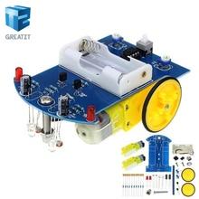 D2-1 DIY Kit Intelligent Tracking Line Smart Car Kit TT Motor Electronic DIY Kit