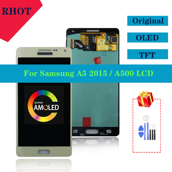 100% tested original Super AMOLED LCD display for Samsung Galaxy A5 2015 A500 A500F A500M A500FU touch screen LCD components 100% tested aaa quality for samsung galaxy a5 2015 a500 a500f a500m replacement lcd display with touch screen digitizer assembly